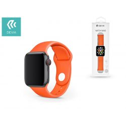 Apple Watch lyukacsos sport szíj - Devia Deluxe Series Sport Band - 42/44 mm - orange