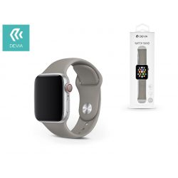 Apple Watch lyukacsos sport szíj - Devia Deluxe Series Sport Band - 42/44 mm - gray
