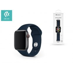 Apple Watch lyukacsos sport szíj - Devia Deluxe Series Sport Band - 42/44 mm - dark blue