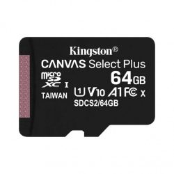 Kingston Canvas Select Plus 64GB MicroSD XC U1 Memóriakártya