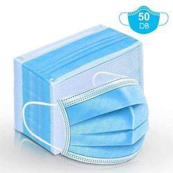 Szájmaszk Háromrétegű - kék 50db/csomag